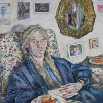 Melissa Scott-Miller 'Frank in a Dressing Gown'. 43 x 43 ins. Oil