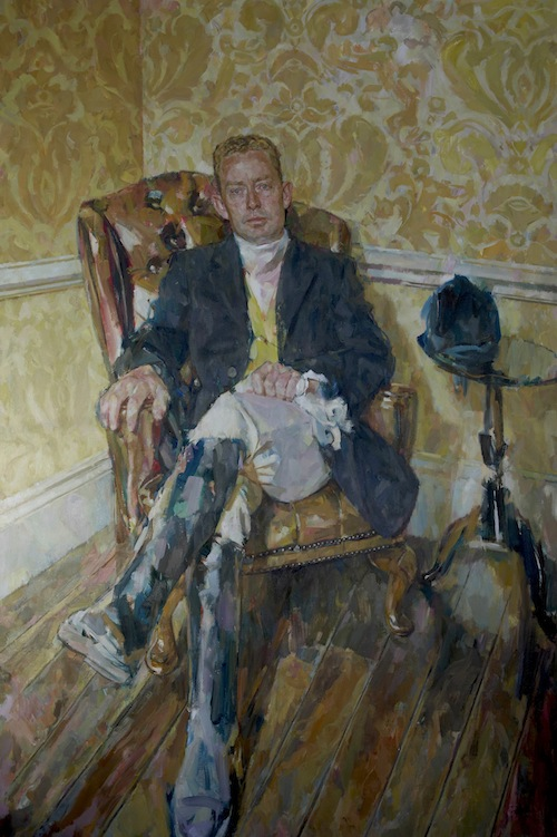 Andrew James 'The Rt. Hon. Gregory Barker MP'. 60 x 40 ins. Oil.