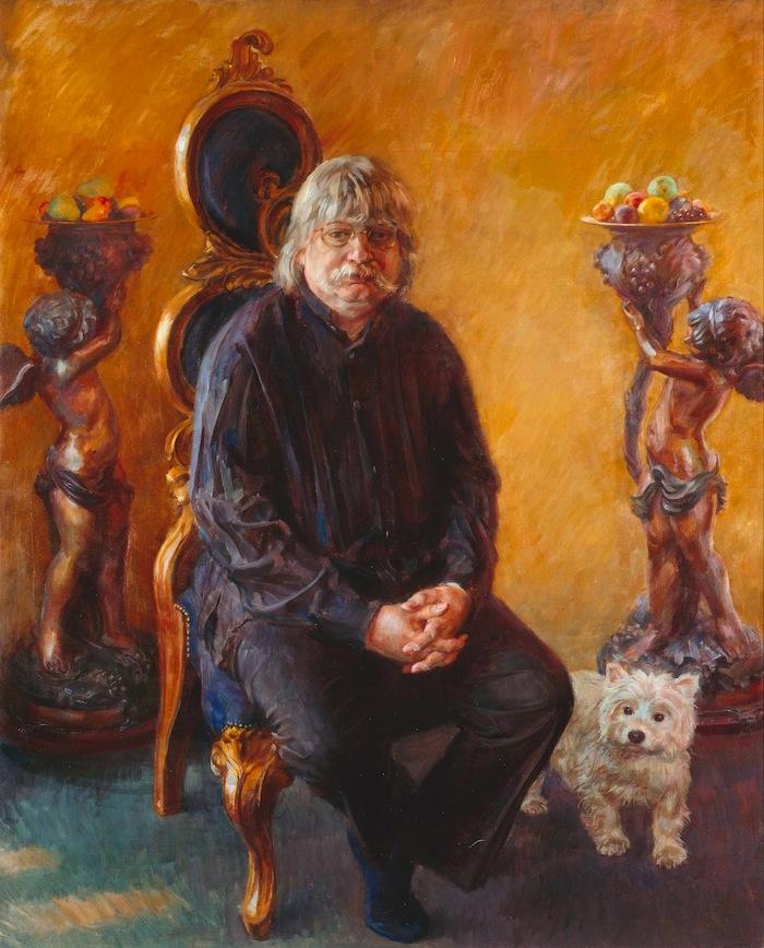 June Mendoza 'Dr. Karl Jenkins OBE, Composer'. 50 x 40 ins. Oil.