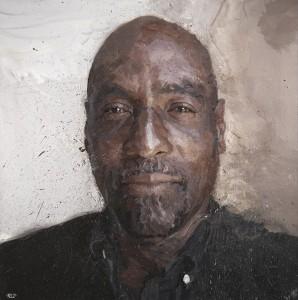 Brendan Kelly 'Viv Richards' a portrait in oil for MCC