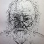 Mark Roscoe 'Laird of Balgonie' portrait drawing