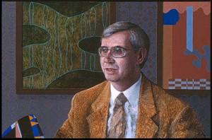 Tom Phillips 'Professor Peter Goddard' portrait commission