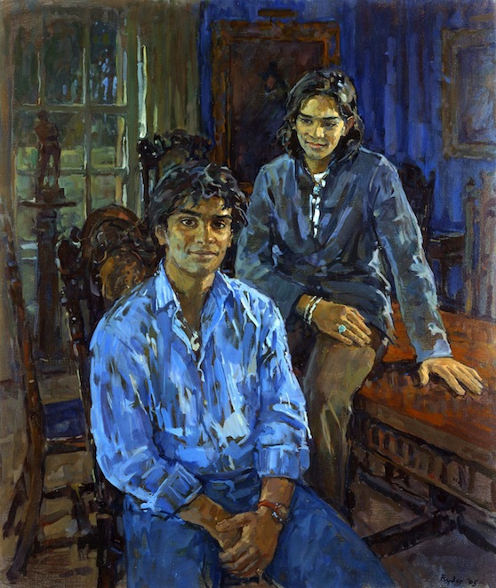 Susan Ryder 'Charles & Richard' portrait of two young men