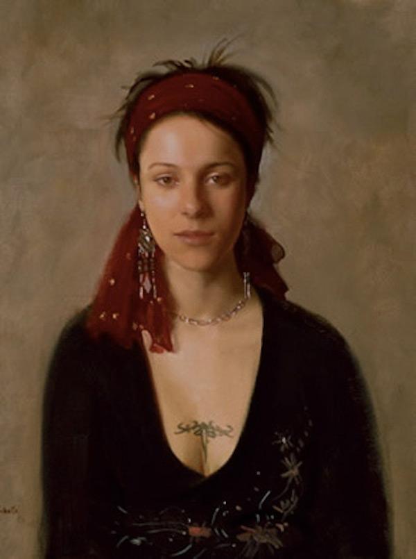 Robbie Wraith 'Magdalena Steinlechner'. 24 x 18 ins. Oil.