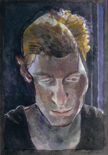 Tom Phillips 'Sylvia Sumira'. 17 x 13 ins. Watercolour
