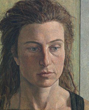 Antony Williams RP Girl with Dreadlocks' egg tempera portrait