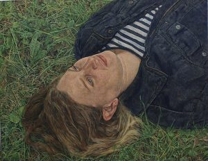Antony Williams 'Emma lying against grass'