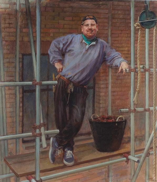 June Mendoza 'Chris McCann' (2000) 39 x 34 ins. Oil on Canvas