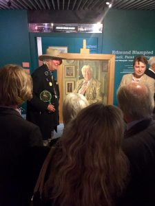 David Gainsborough Roberts and Benjamin Sullivan at the unveiling. Photo by Kate Zadell.