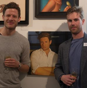 James Norton and Henry Bryne at the Private View of the Royal Society of Portrait Painters. Photo Hannah Burton