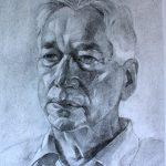 Sam Dalby 'Professor Robert Tombs' for St John's College, Cambridge charcoal