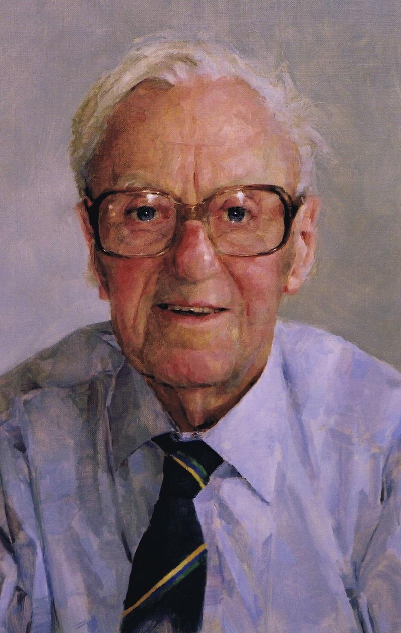 Keith Breeden 'Victor J. Newman' (a posthumous portrait). 24 x 18 ins. Oil