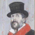Coates T Self Portrait in pastel