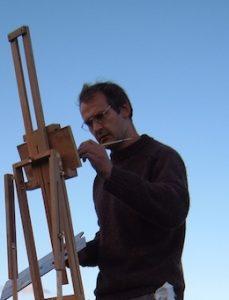 Toby Wiggins at his easel