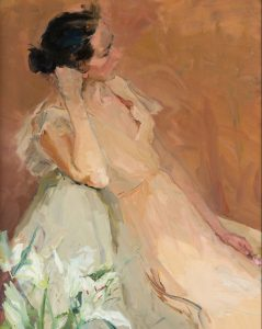 Valeriy Gridnev, The Girl with Lilies - one of the top portrait painters 2017