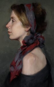 Harriet Pattinson, In Profile exhibited with the Royal Society of Portrait Painters