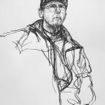 Jason Bowyer pen and ink drawing of Alan