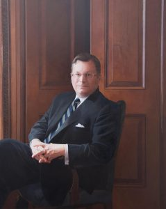 Eric Widing Deputy Chairman of Christies New York by Paul Brason commissioned from the United States