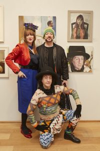 Clare MaAuley, Boy George and Philip Sallon Photo by Alick Cotterill copy
