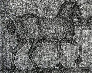 Leonard-McComb-St-Marco-Horse-etching