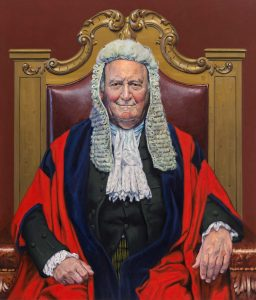 David Cobley 'His Honour Judge Peter Beaumont QC CBE' painted for The Old Bailey