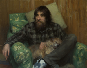 Frances Bell - Meam Edd with his Dog