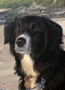 Mark Roscoe - Portrait of a Dog (detail) dog portrait