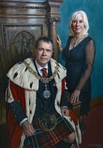 Mark Roscoe 'Lord and Lady Provost' for The City of Edinburgh part-funded by public donations