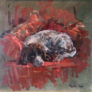 Susan Ryder - Portrait of a Spaniel dog - dog portrait