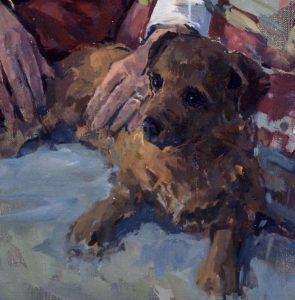 Susan Ryder - Dog portrait (detail from a portrait of a lady)
