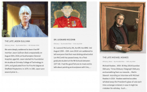 Royal Society of Portrait Painters Obituary