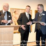 Photo Must Be Credited ©Edward Lloyd/Alpha Press 080000 08/05/2019 Richard Foster Ð presentation of the Ondaatje Prize to Peter Kuhfeld at the Royal Society of Portrait Painters Annual Exhibition Private View 2019 held at the Mall Galleries in The Mall, London.
