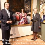 Stephen Nacol, Rebecca Nacol , with portrait Rose Hanbury Marchioness Of Cholmondeley of Houghton Hall 'Rose at Houghton' by Phoebe Dickinson