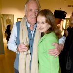 Photo Must Be Credited ©Edward Lloyd/Alpha Press 080000 08/05/2019 John Rendall, Emma Woods at the Royal Society of Portrait Painters Annual Exhibition Private View 2019 held at the Mall Galleries in The Mall, London.