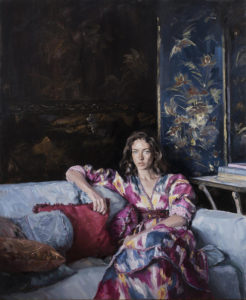 Phoebe Dickinson 'Rose at Houghton' winner of the Burke's Peerage Foundation Award for Classically Inspired Portraiture