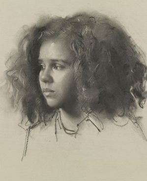 Robbie Wraith 'Esther' winner of the Prince of Wales Prize for Portraiture