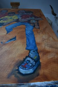 Simon Davis Almeida Hall detail of workings round a shoe