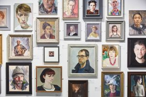 Portraits on the Wall at the Royal Society of Portrait Painters Annual Exhibition