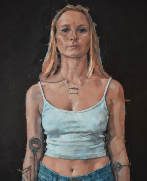 A portrait commissioned by the family who commented that it reveals 'The strength she doesn't see'