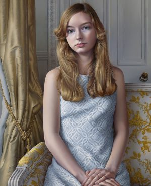 Miriam Escofet 'Sophia' a portrait commission in oil on linen over panel 70 x 50 cm