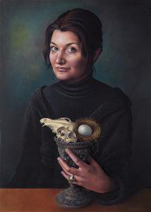Miriam Escofet 'Vanitas, Self' pastel on paper 70 x 50 cm