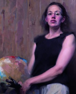 Self portrait in oil, winner of the Ondaatje Prize for Portraiture 2020