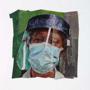 Collage portrait of an NHS Hero